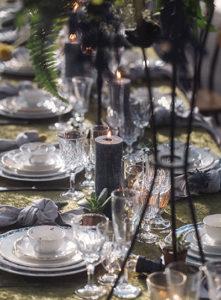 ambiance blanc doré table