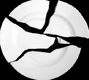 assiette cassée