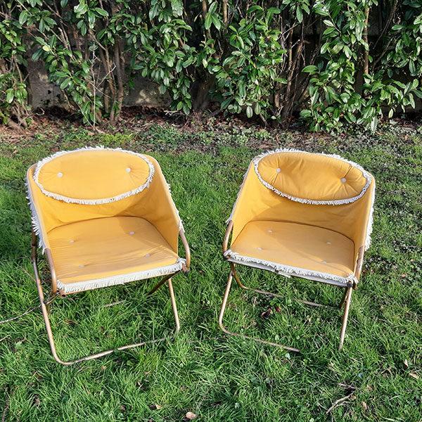 Chaise vintage pliante Lafuma
