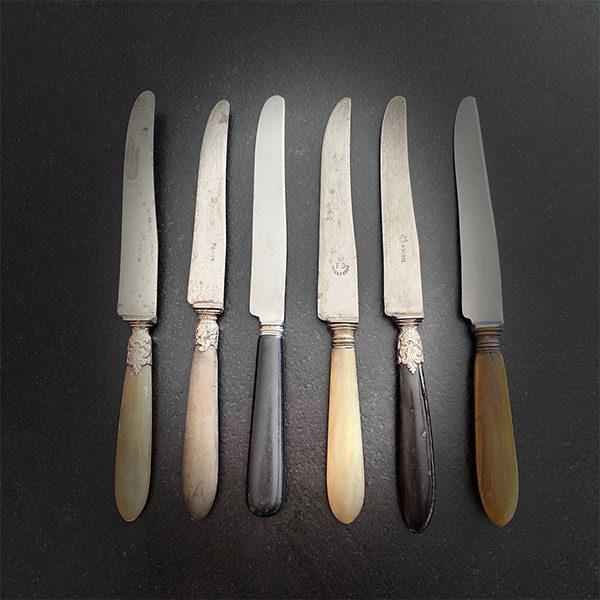 couteau manche bois / corne