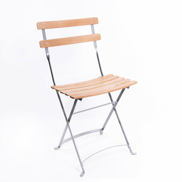 Chaise square bois pliable