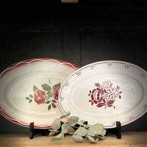 Location vaisselle Saumur - plat oval champêtre
