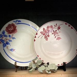 Location vaisselle Saumur - plat rond champêtre