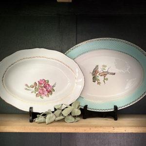 Location vaisselle Angers - Plat oval fleurette